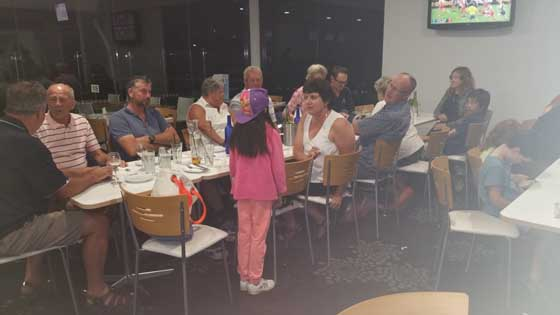 Dinner at Gwandalan Bowling Club